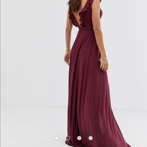 ASOS Dresses - ASOS DESIGN Tall ruffle wrap maxi dress tie detail